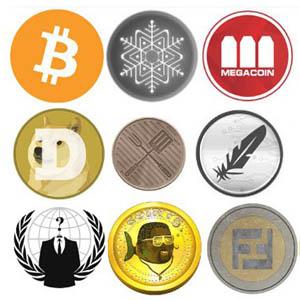 a bunch of bitcoins